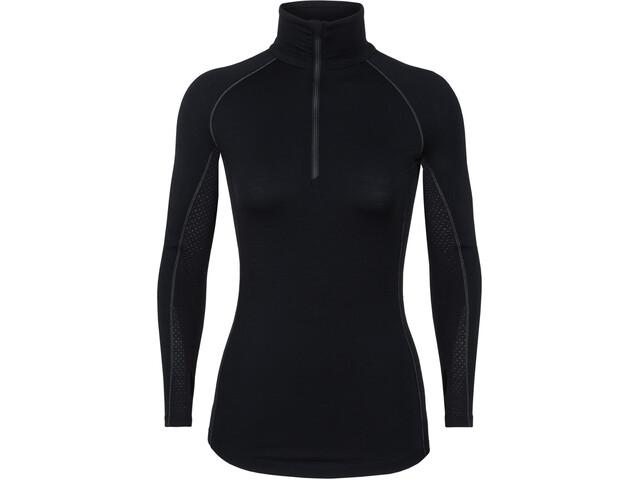 Icebreaker 200 Zone T-shirt Manches longues Demi-zip Femme, black